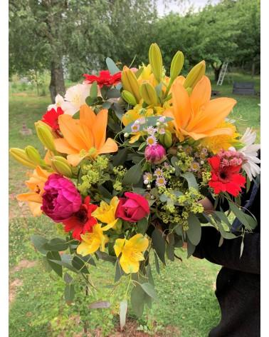 Composition de fleurs fraîches françaises de saison - différentes tailles